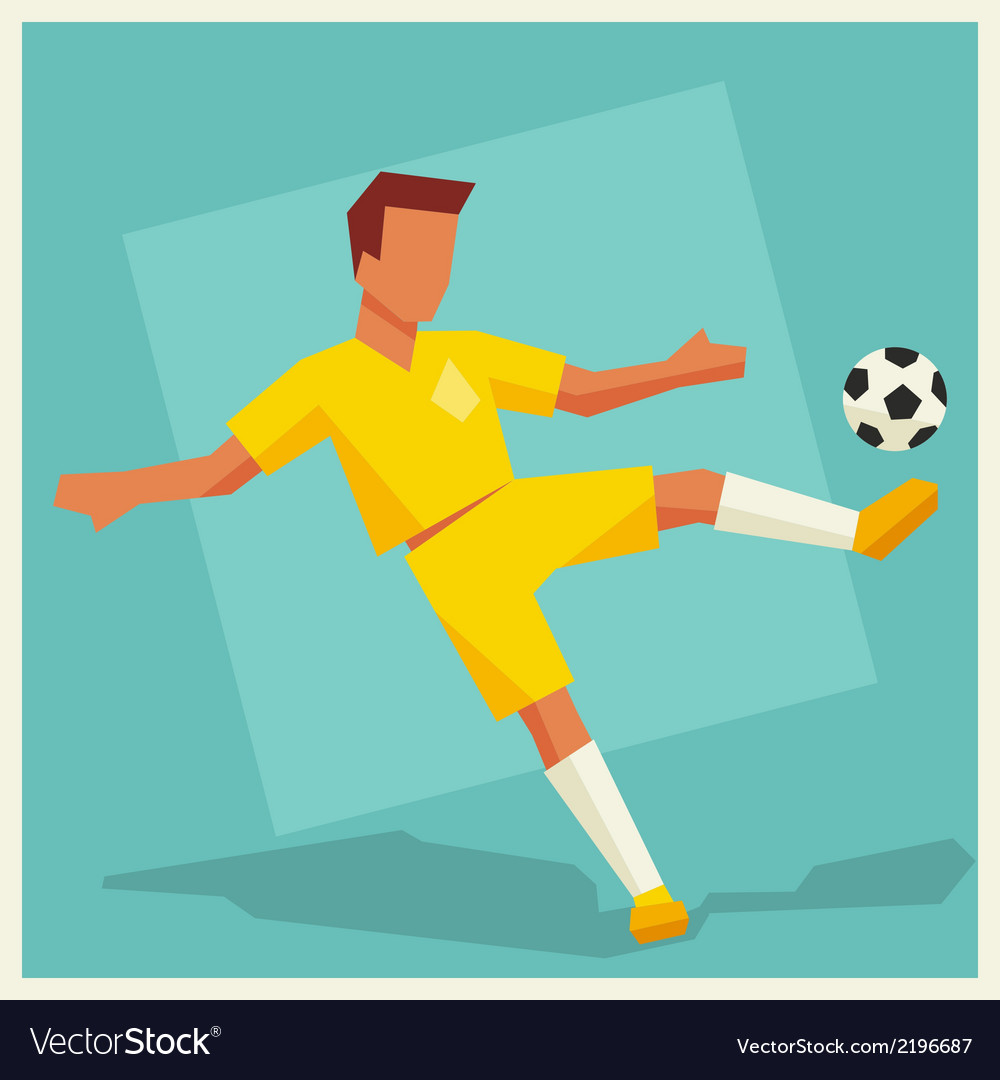 Soccer player in flat design style vector image
