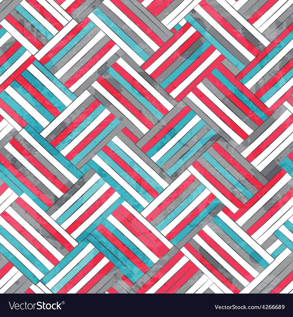 Abstract wattled seamless texture with grunge vector image