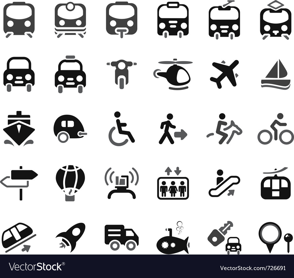 Transportation icon vector image