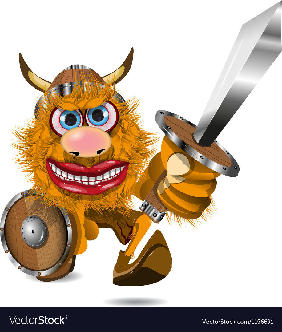 Aggressive viking vector image