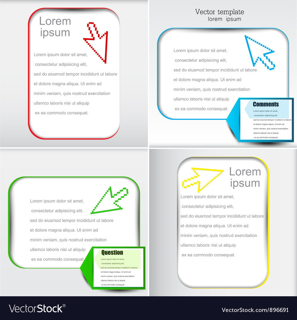 Colorful text page template vector image