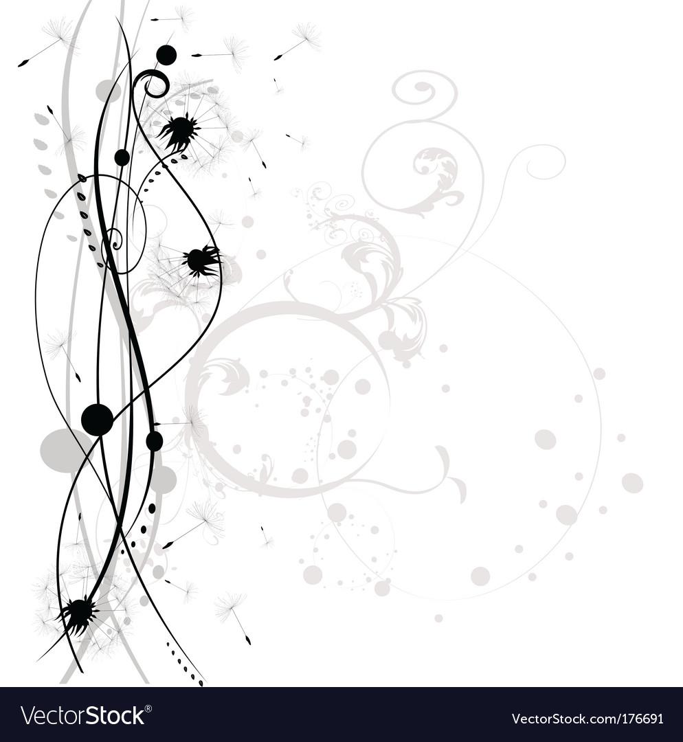 Dandelion abstract vector image