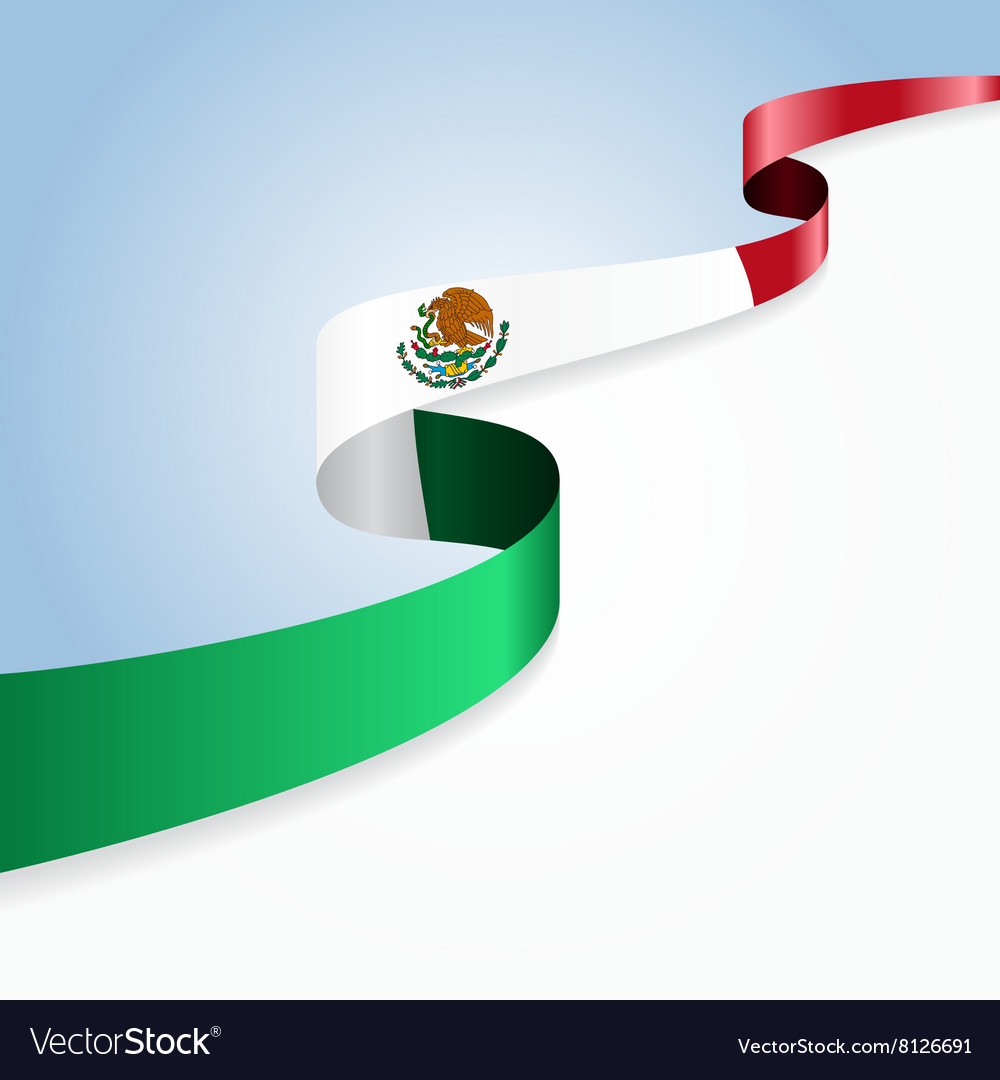 mexican flag background royalty free vector image