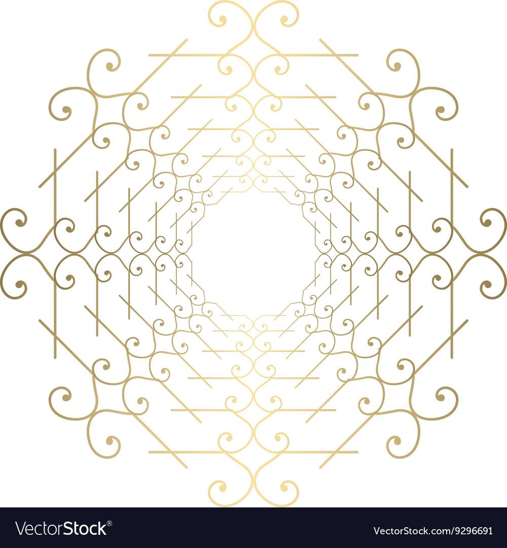 Ornate golden ornament for decoration vector image