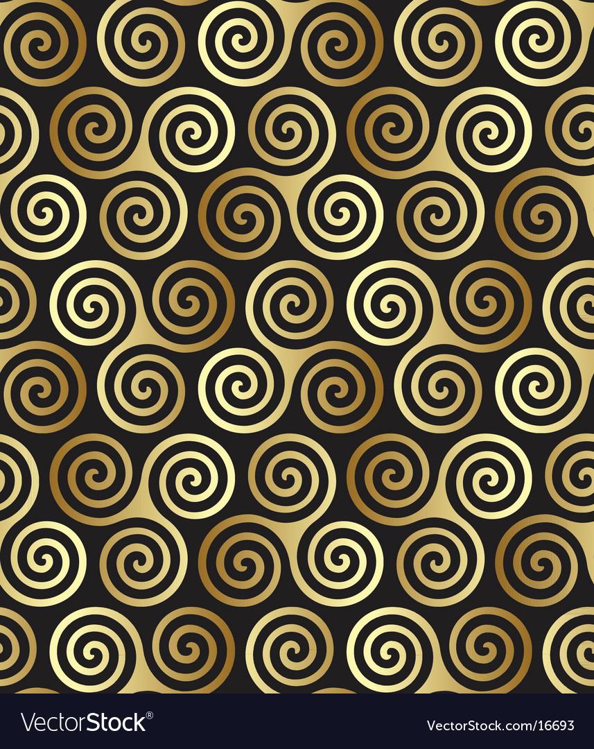Celtic spiral pattern vector image