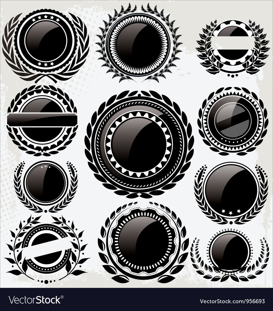 Set of vintage retro black and white labels vector image