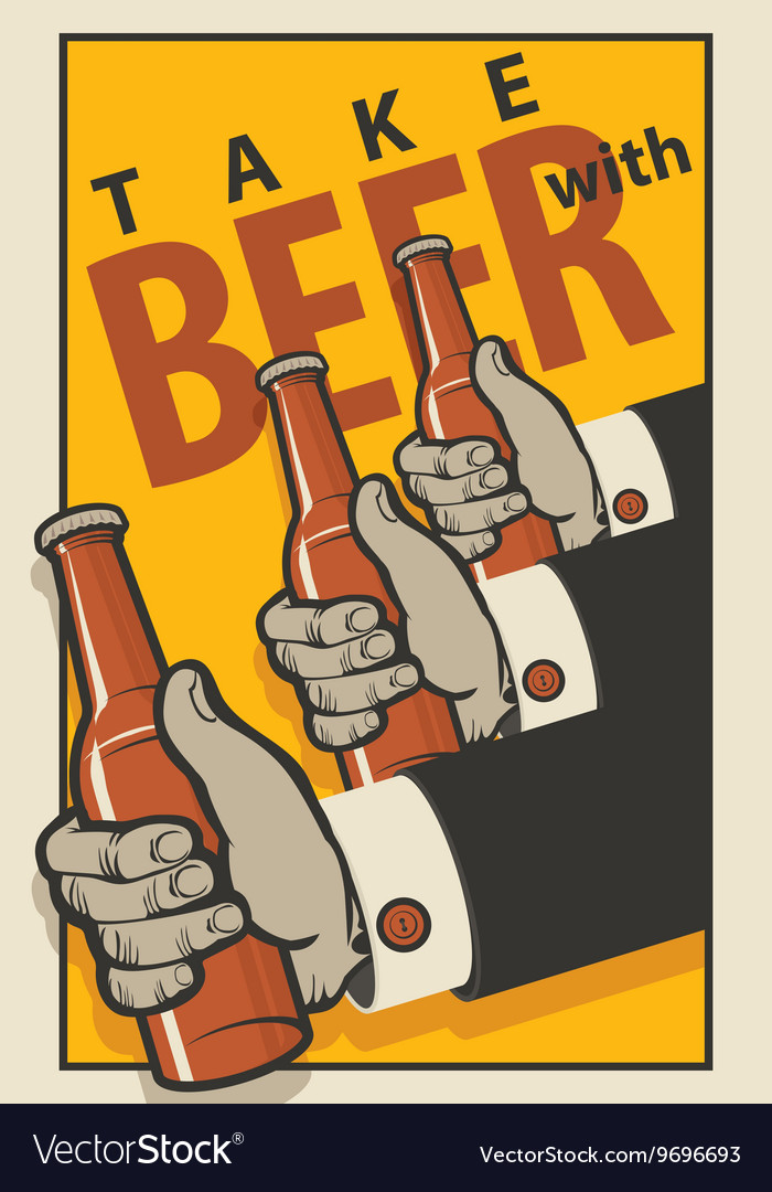 Beer in a retro style vector image