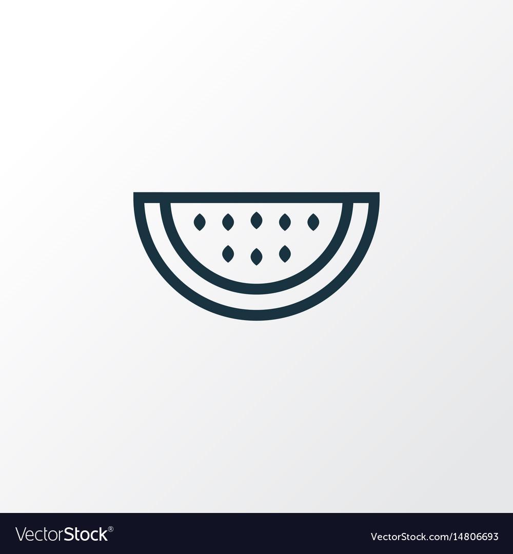 Watermelon outline symbol premium quality vector image
