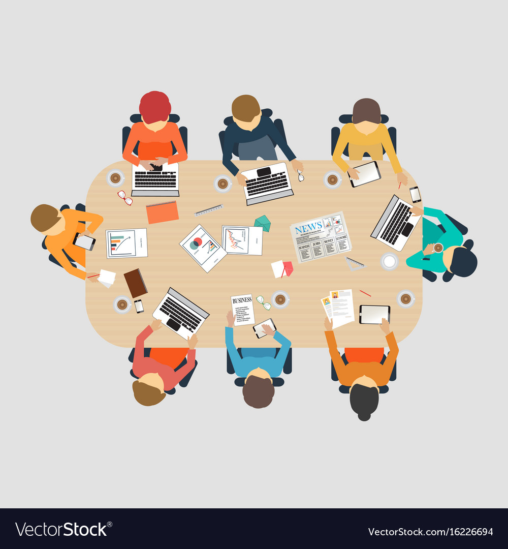 Business meeting design vector image
