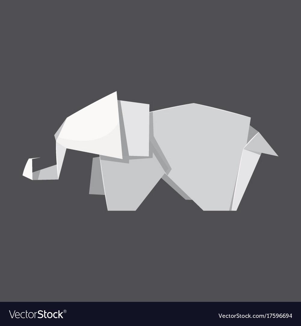 Origami elephant concept background realistic vector image origami elephant concept background realistic vector image jeuxipadfo Choice Image