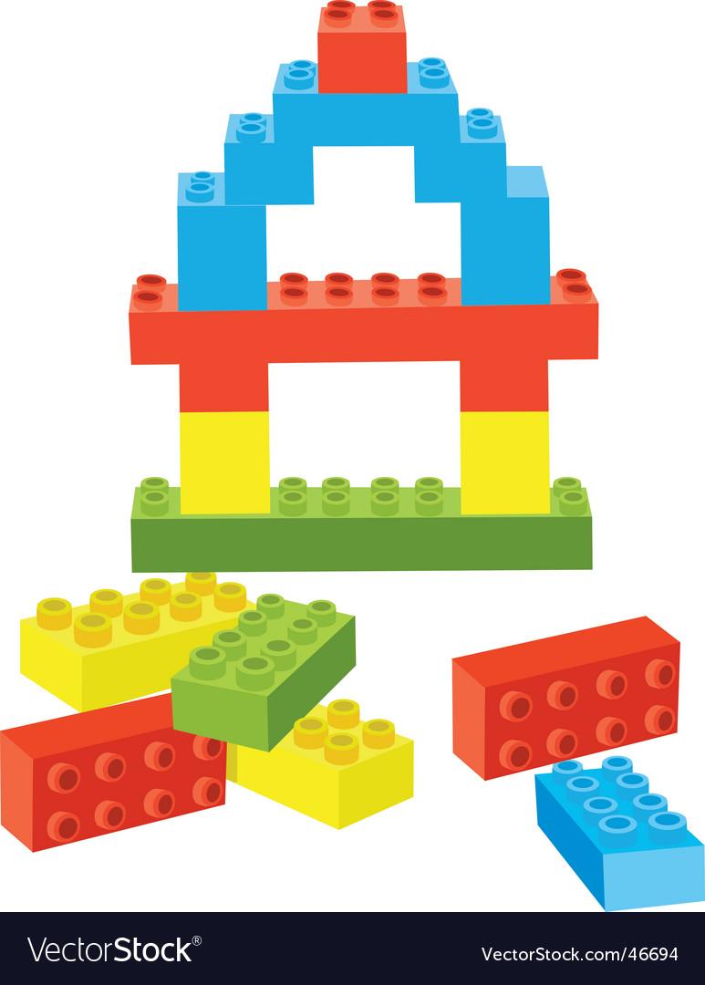 Toy bricks vector image
