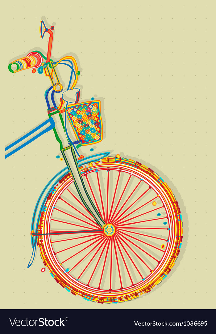 Bicycle card Vector Image