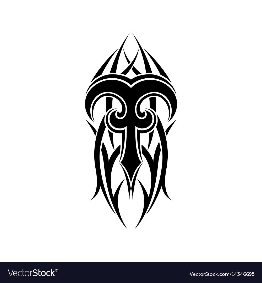 Aries zodiac abstract tribal tattoo design vector image aries zodiac abstract tribal tattoo design vector image biocorpaavc