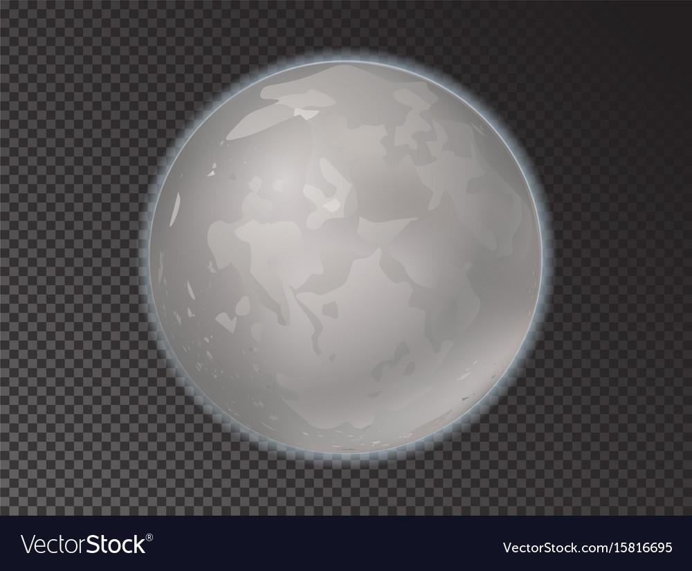 Full moon in the dark sky vector image