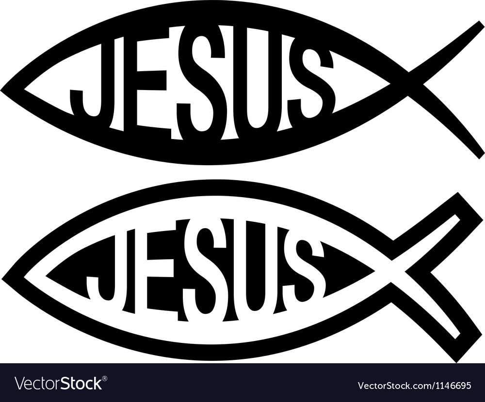 Jesus fish symbol vector image