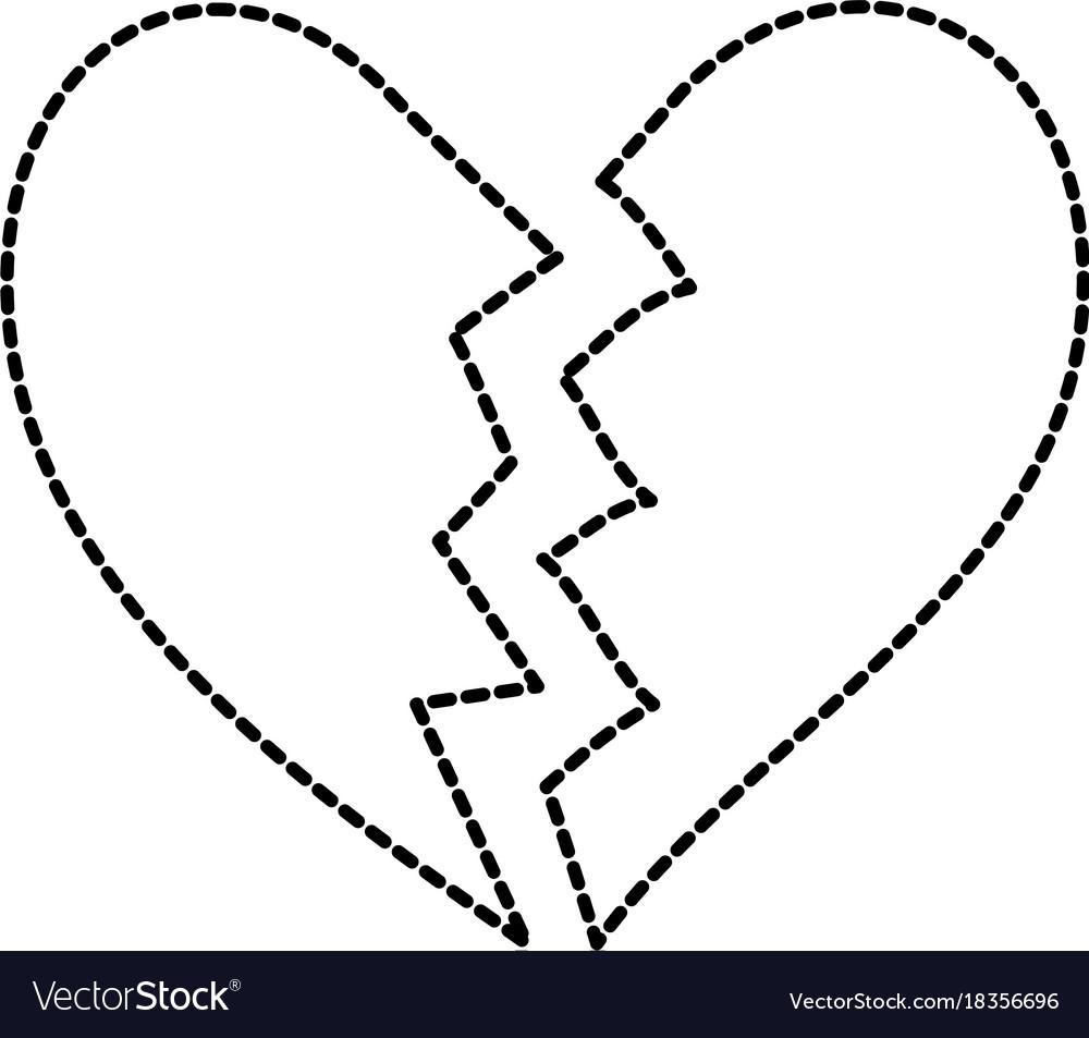 Broken heart icon divorce end of love symbol vector image broken heart icon divorce end of love symbol vector image buycottarizona