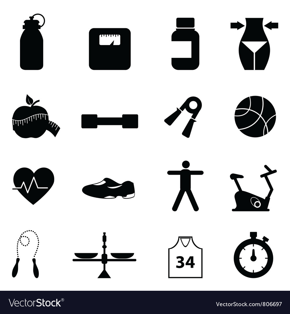 Health pictograms vector image
