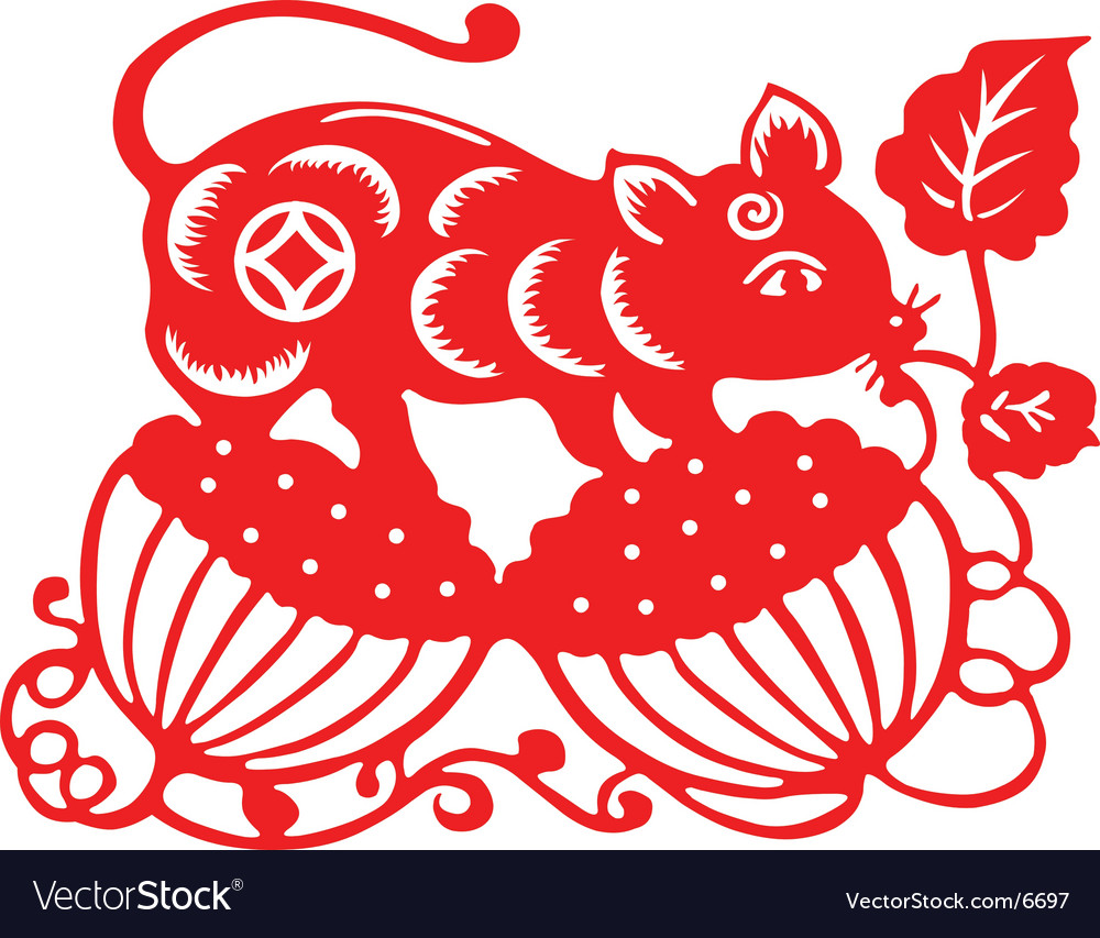 chinese new year rat 2008 vector image - Chinese New Year 2008