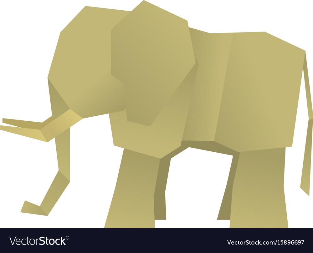 Origami elephant icon cartoon style royalty free vector origami elephant icon cartoon style vector image jeuxipadfo Choice Image