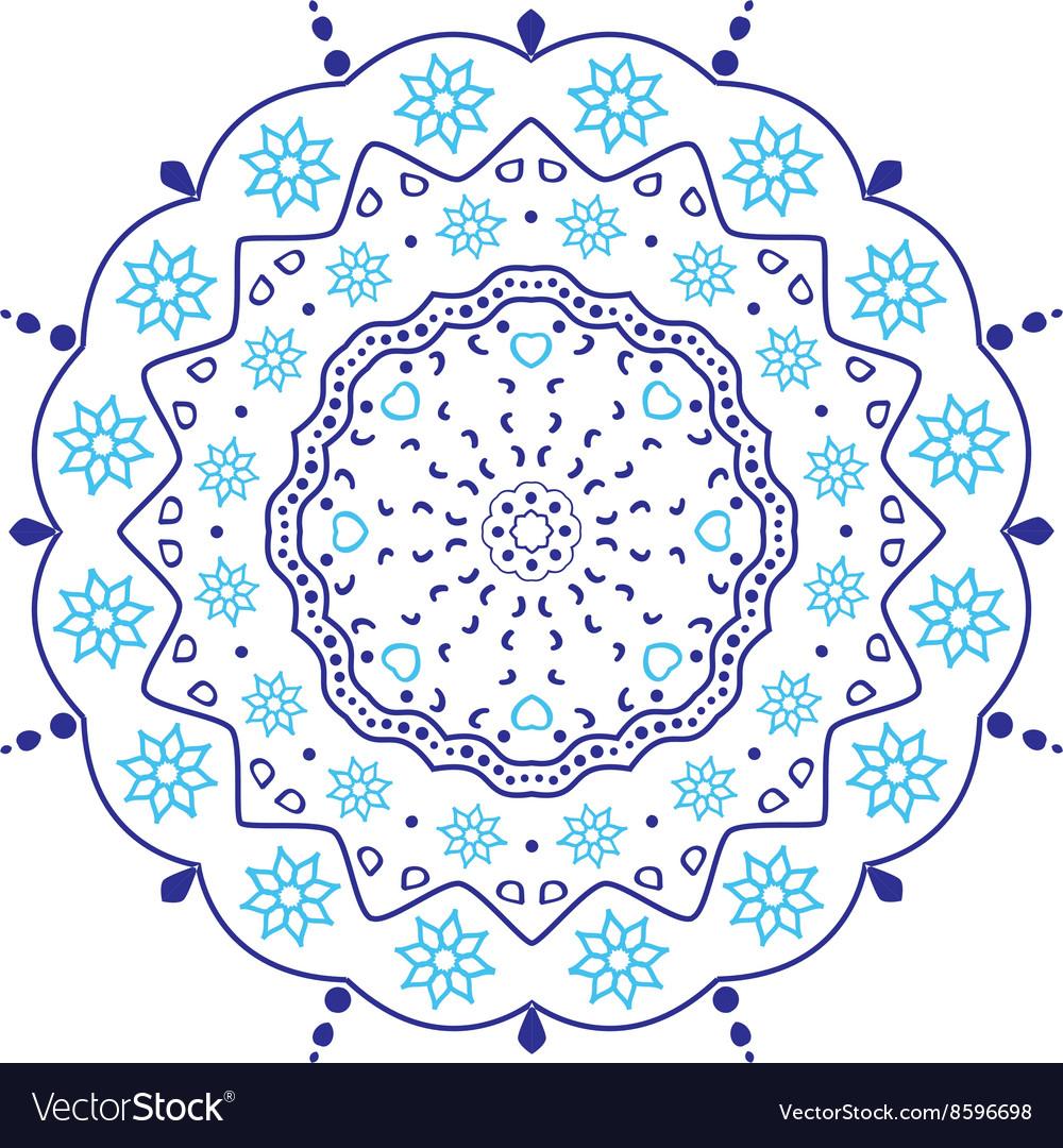 Circular floral ornament vector image