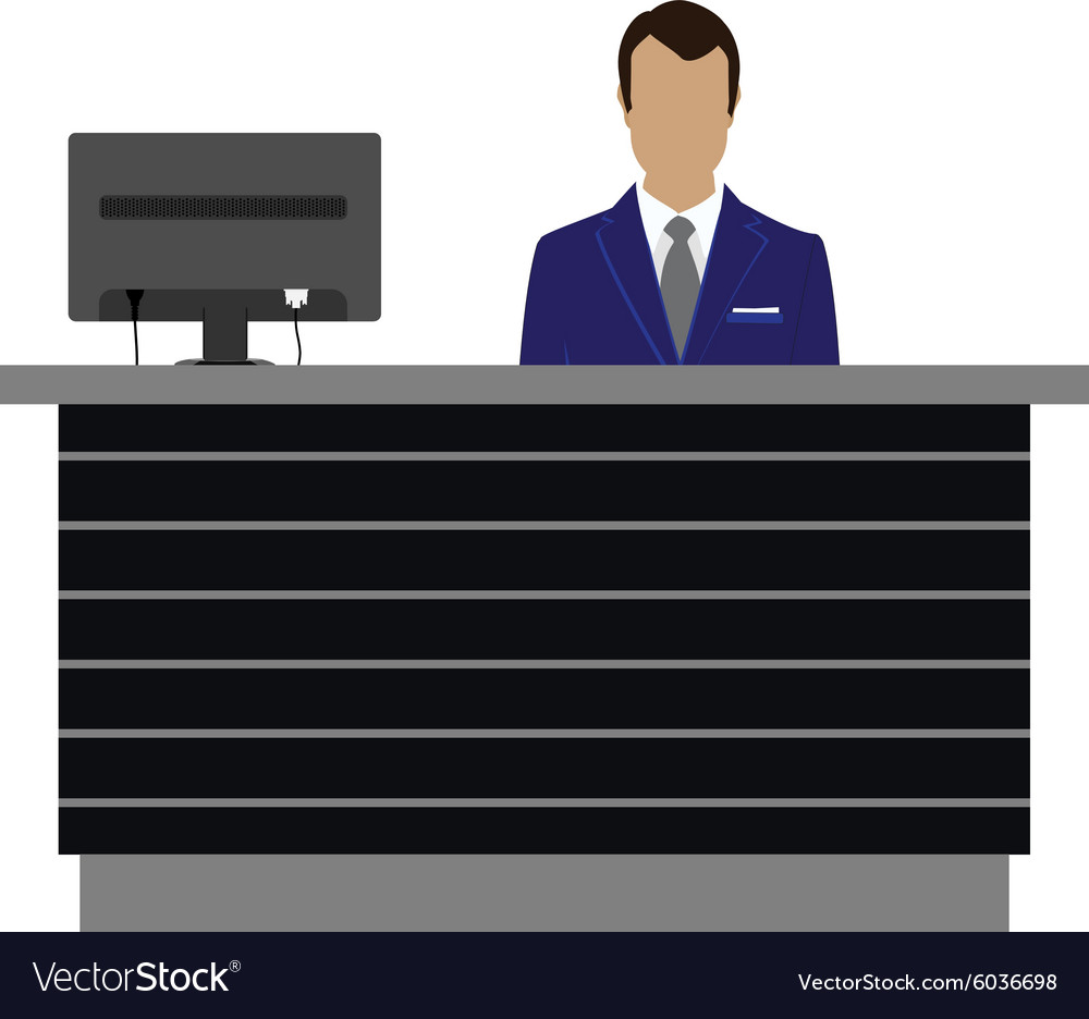 Reception desk vector image