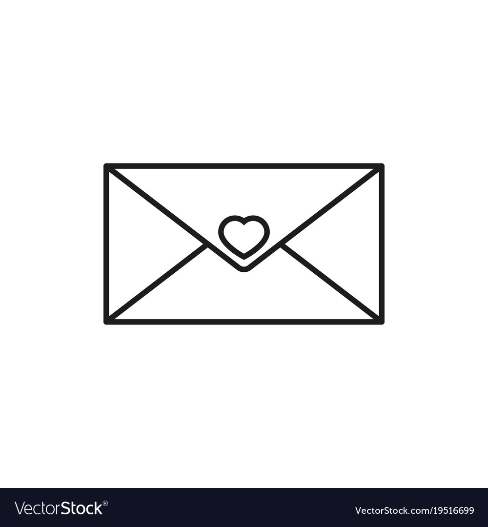 Envelope with heart icon vector image