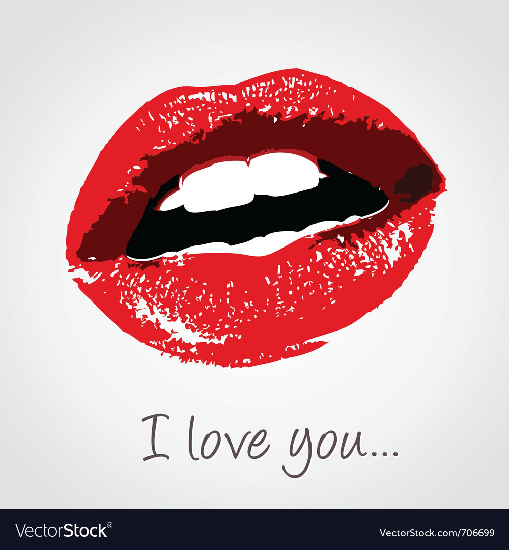 Love kiss vector image