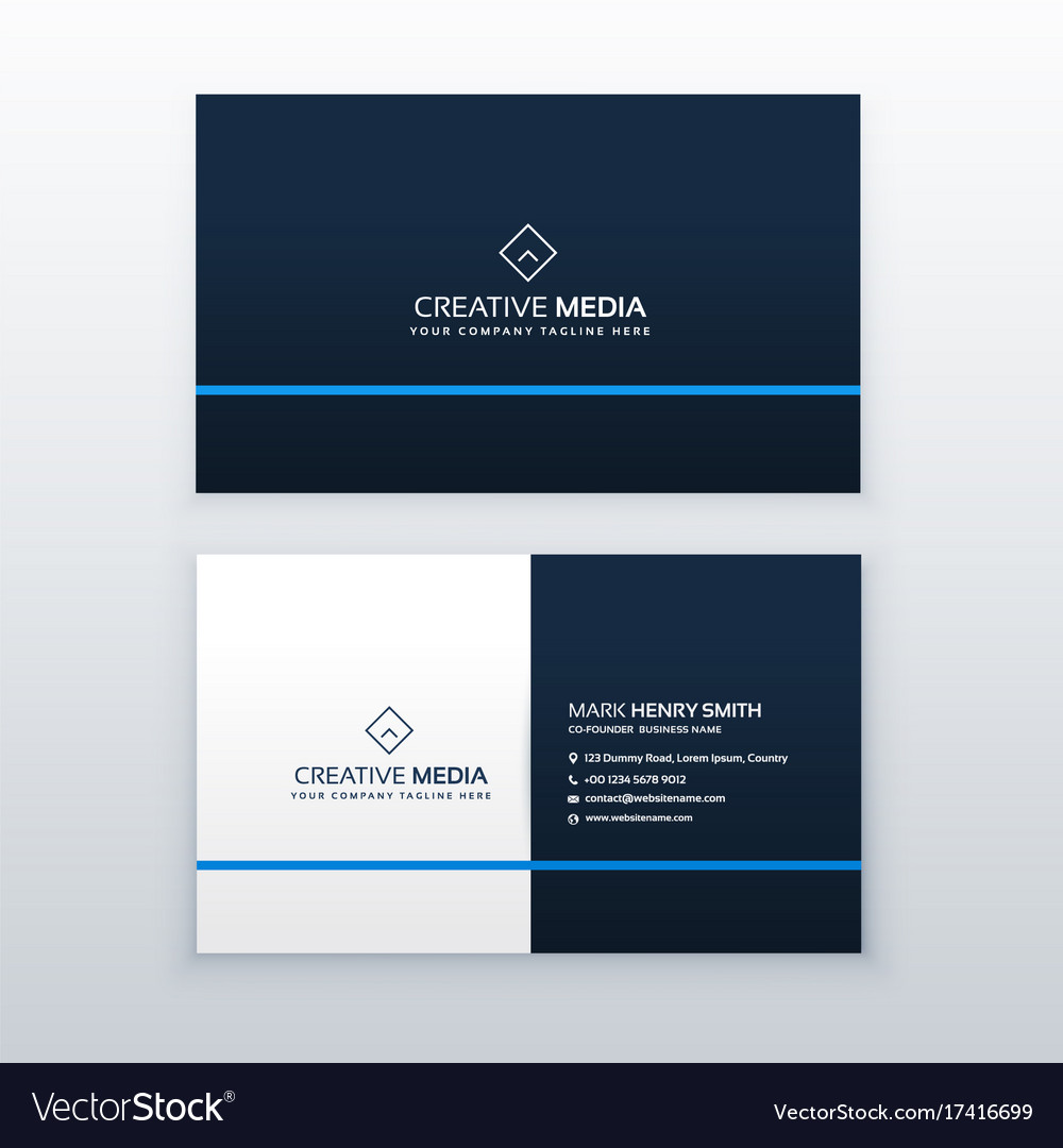 Simple blue business card design template vector image simple blue business card design template vector image reheart Images