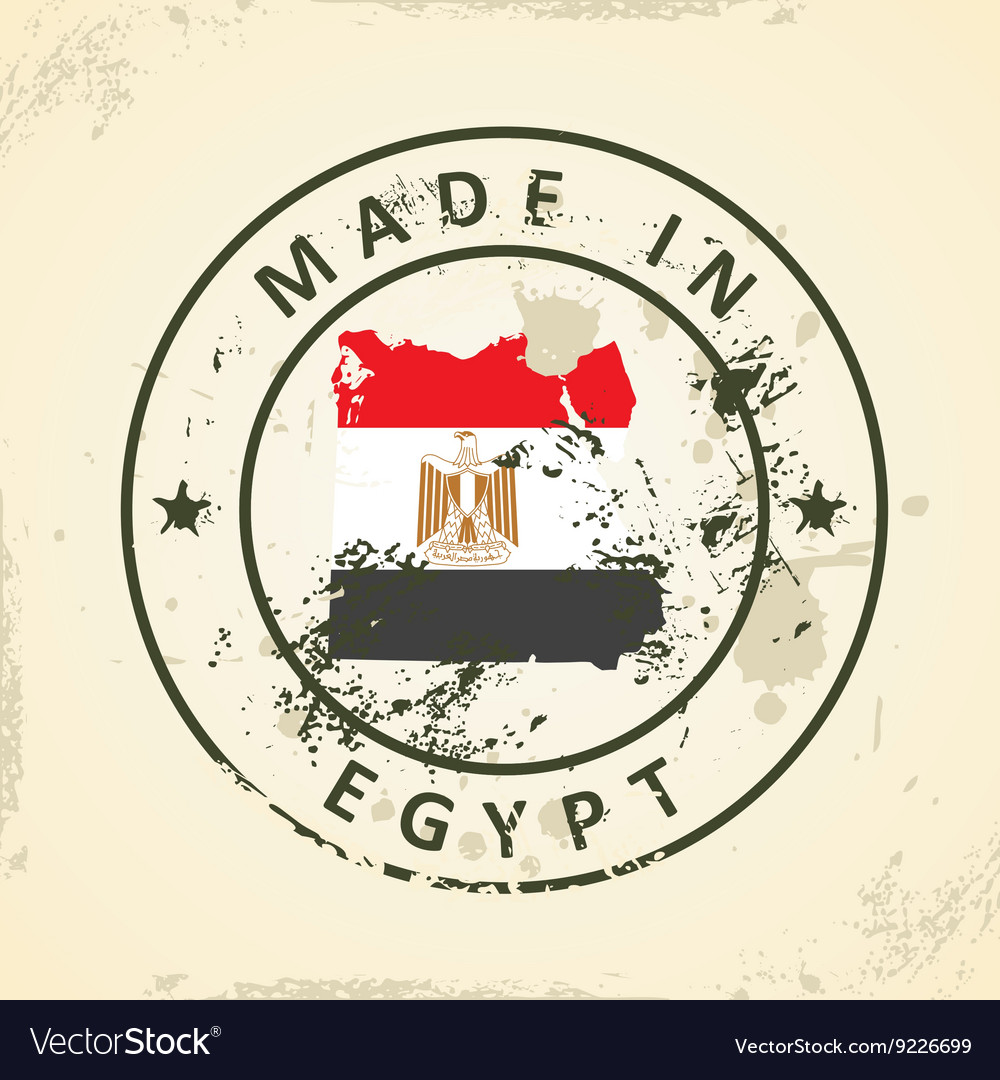 Stamp With Map Flag Of Egypt Royalty Free Vector Image - Map of egypt vector free