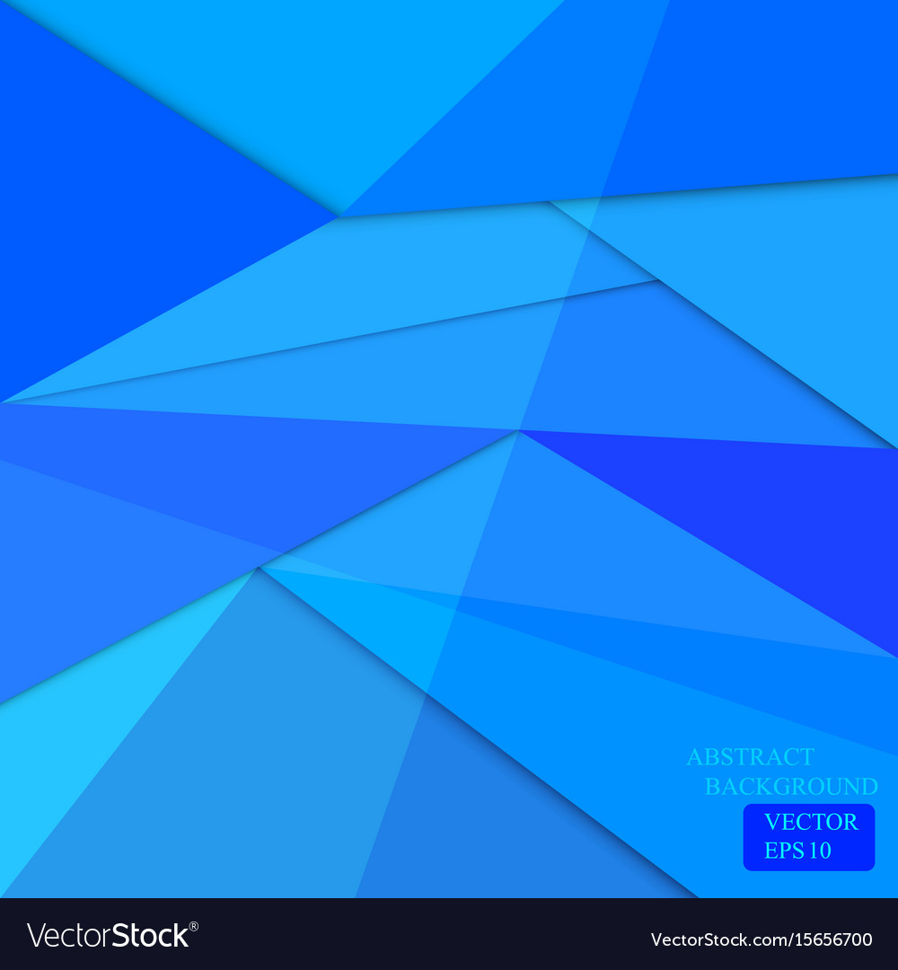 Blue polygon background web design vector image