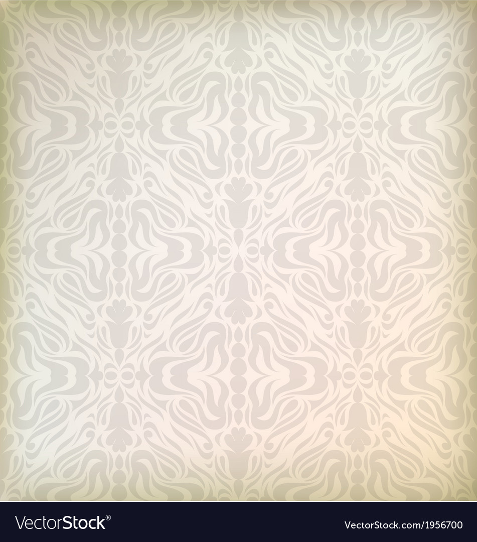 Damask Wallpaper Seamless Vector Image