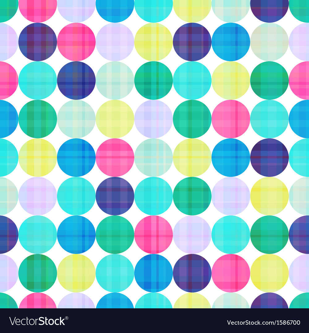 Seamless polka background pattern vector image