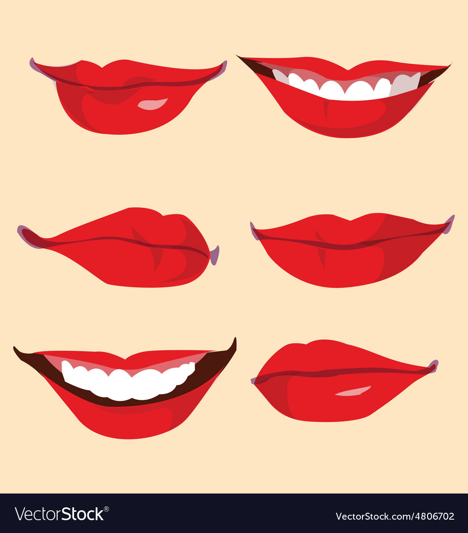 Smile and lips vector image