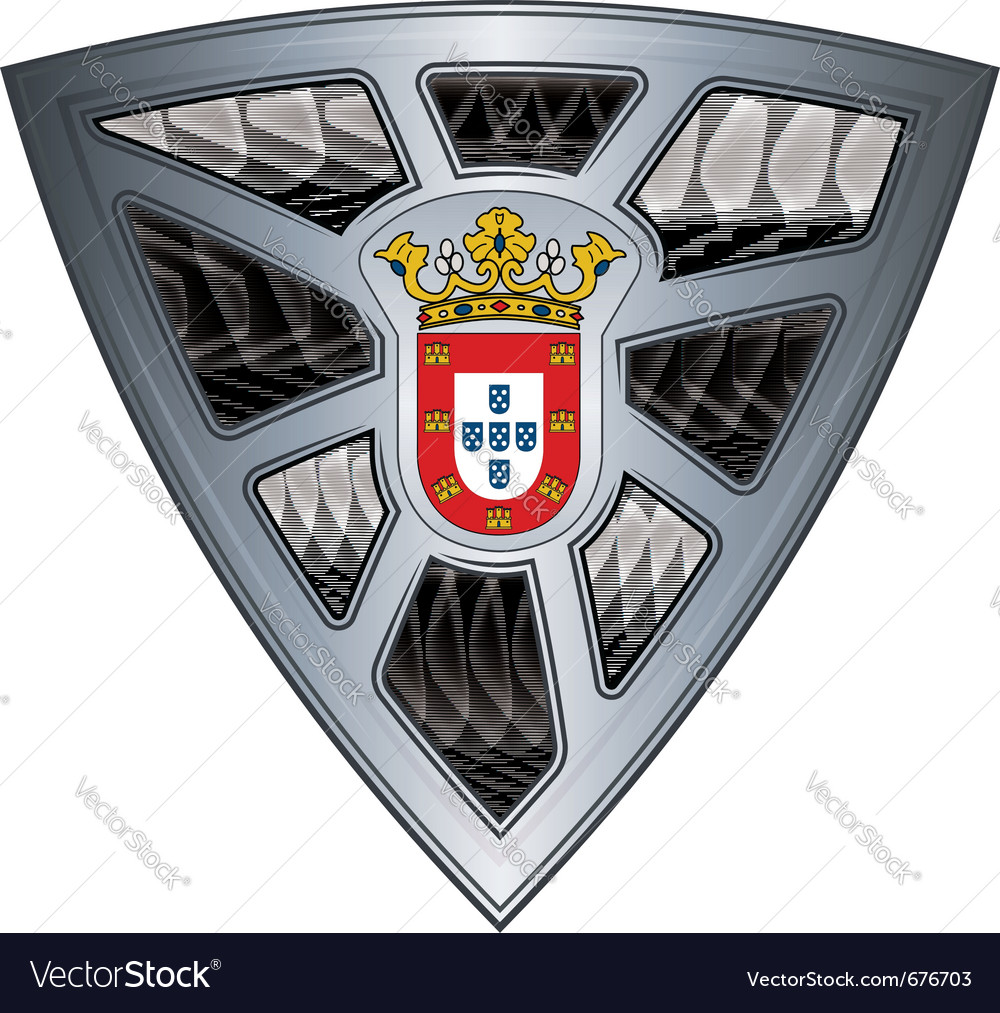 Steel shield ceuta vector image