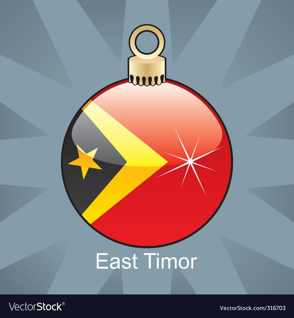 East Timor flag on bulb vector image