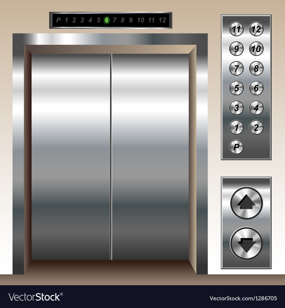 Elevator set vector image