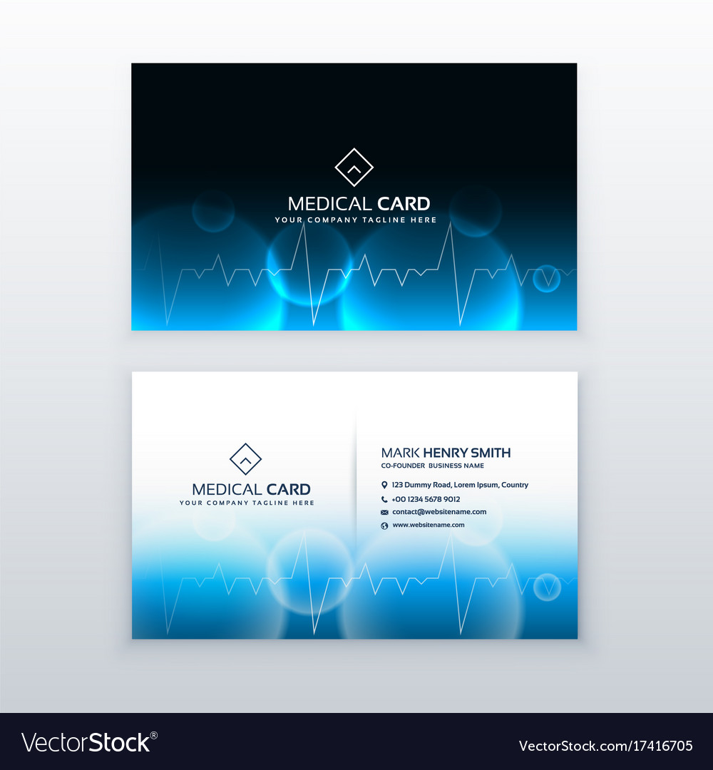 Heallthcare medical business card design Vector Image