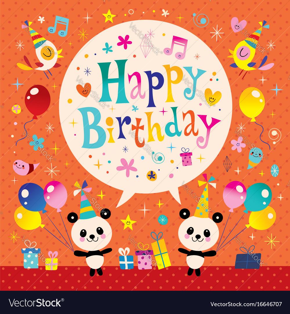 Happy birthday kids greeting card royalty free vector image happy birthday kids greeting card vector image bookmarktalkfo Images