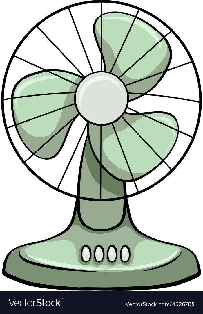 A Sketch Of A Electric Fan : Electric fan royalty free vector image vectorstock