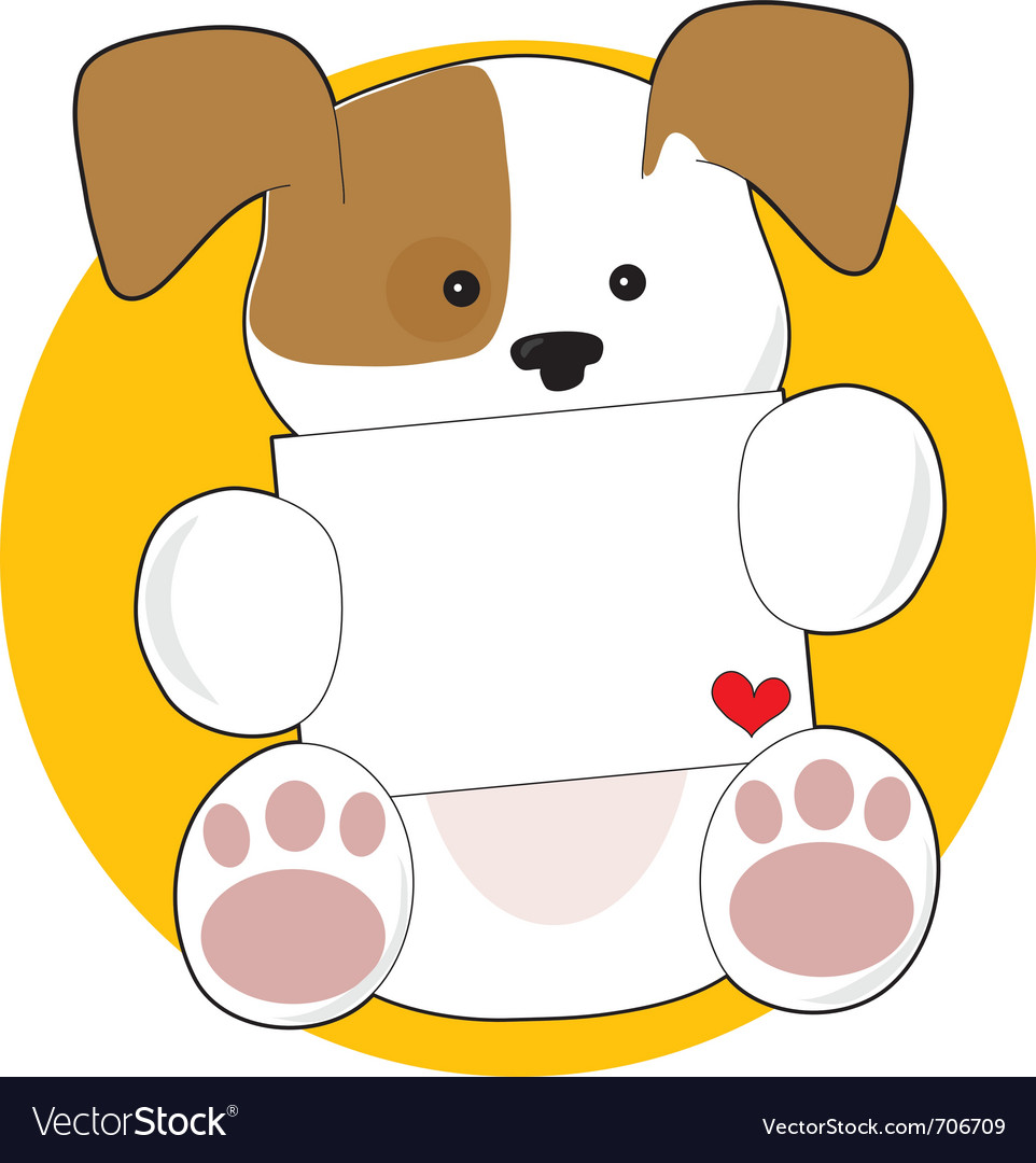 Cute puppy letter vector image