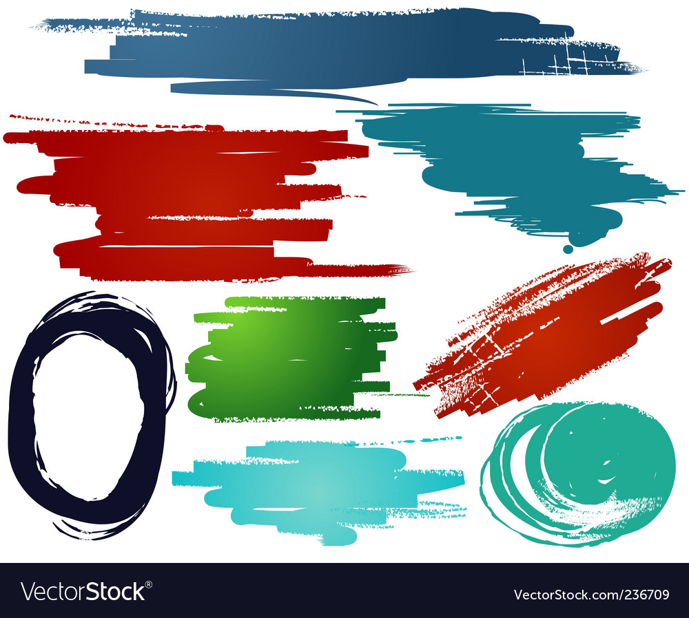 Grunge design elements vector image