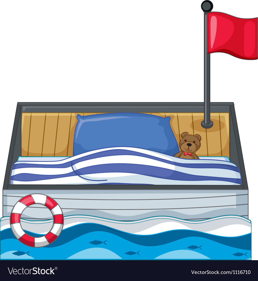 A child bed vector image