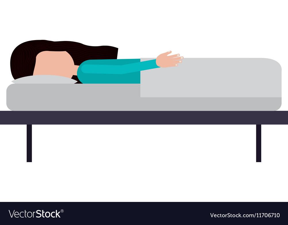 Isolated sleepy girl design vector image