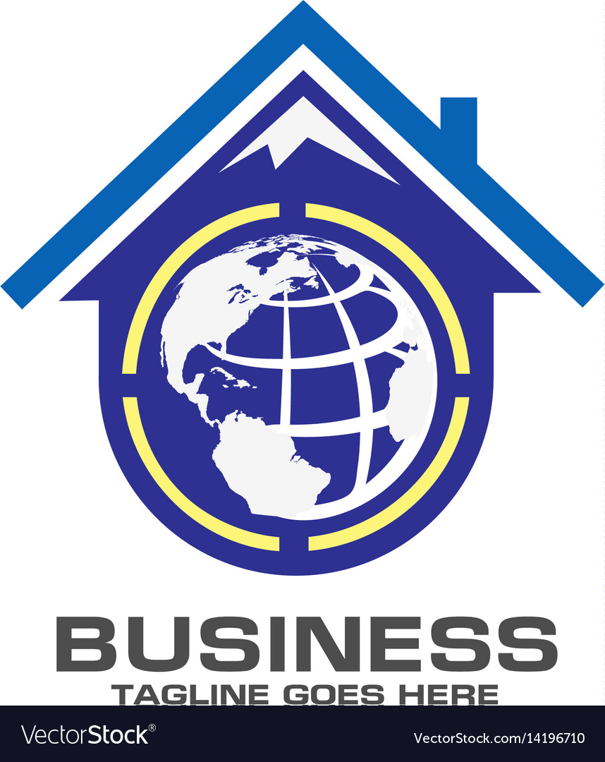 Roofing world logo vector image