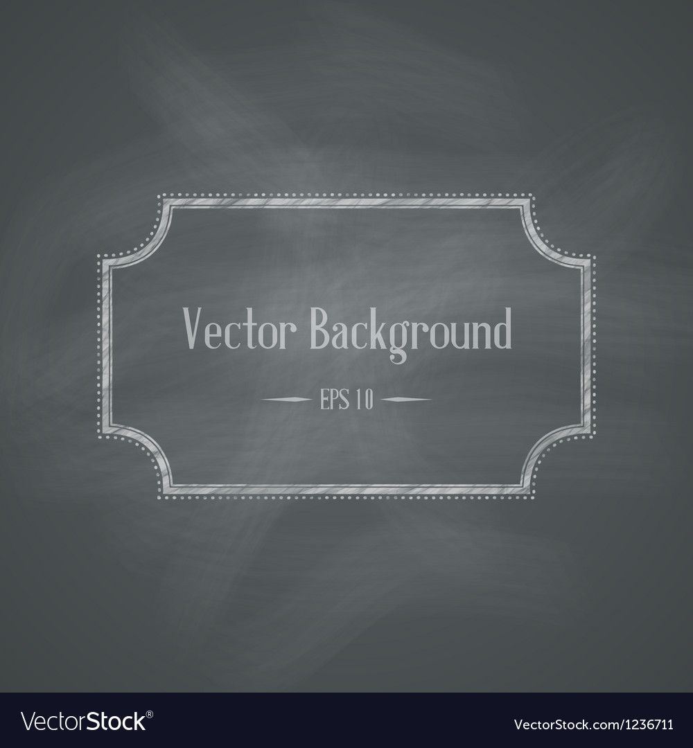 Chalkboard Retro Background vector image
