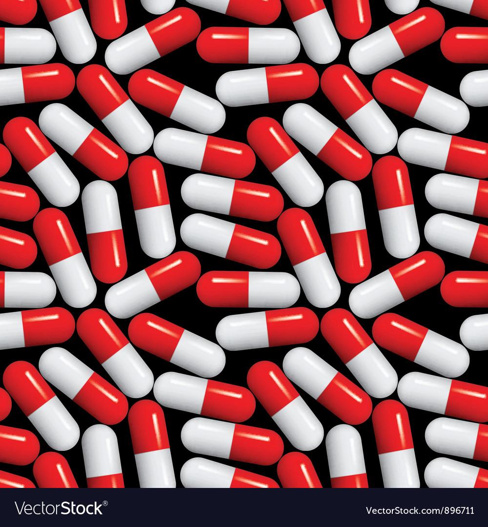 Medical pills seamless pattern vector image
