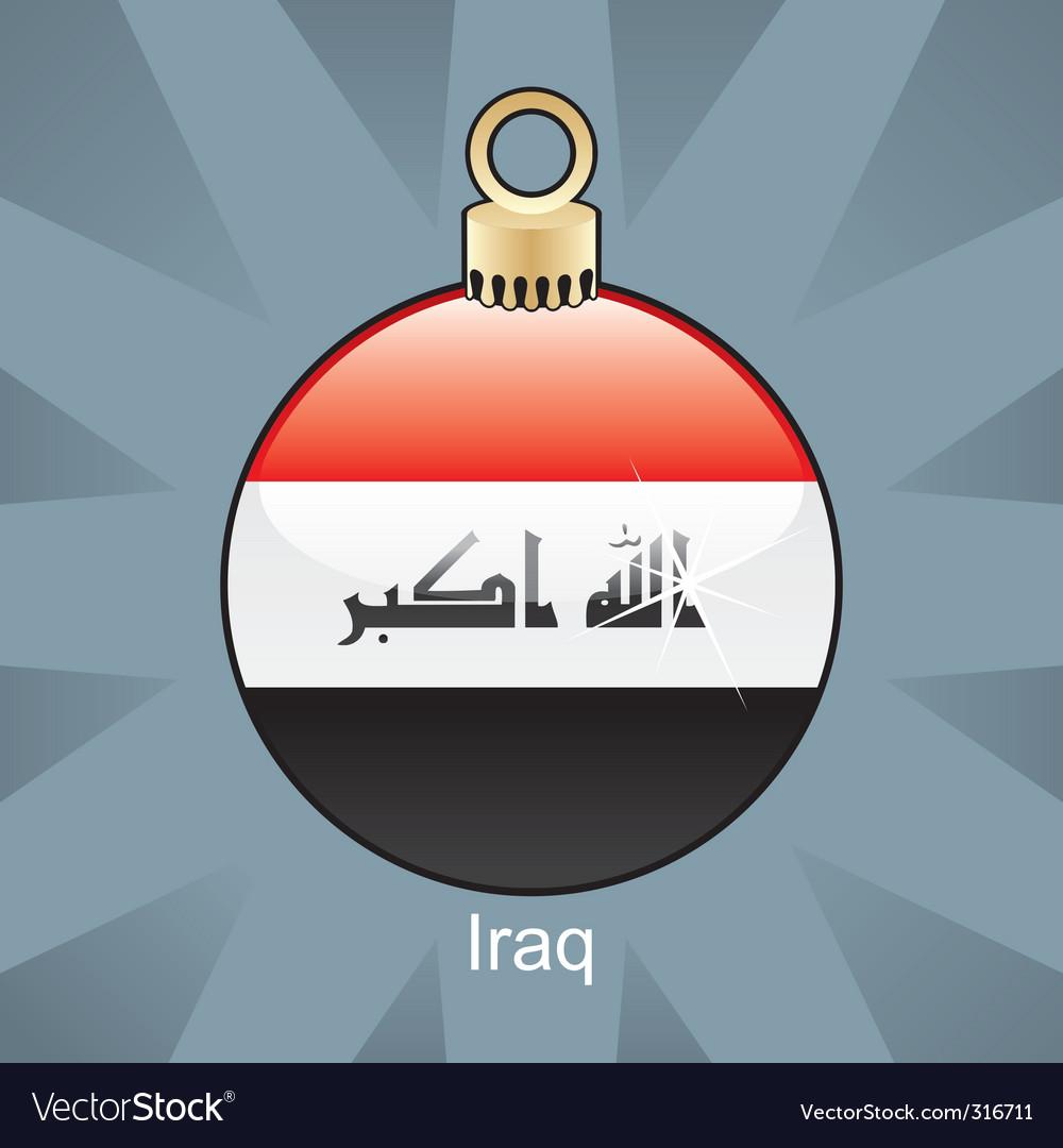 Iraq bulb vector image
