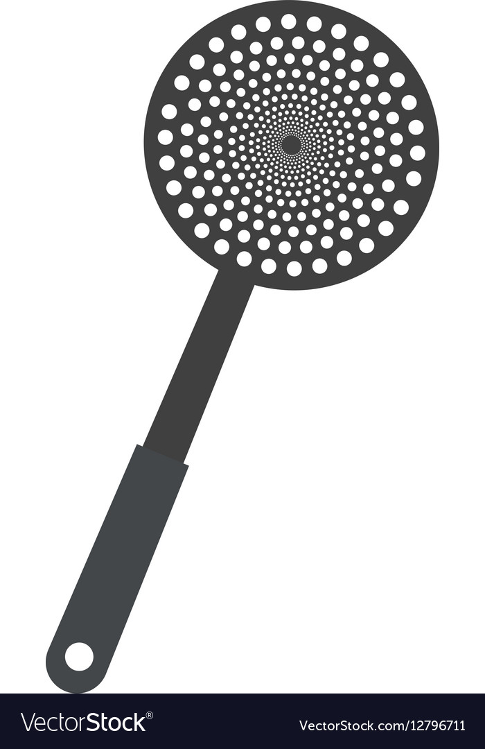 Spatula frying utensil kitchen vector image