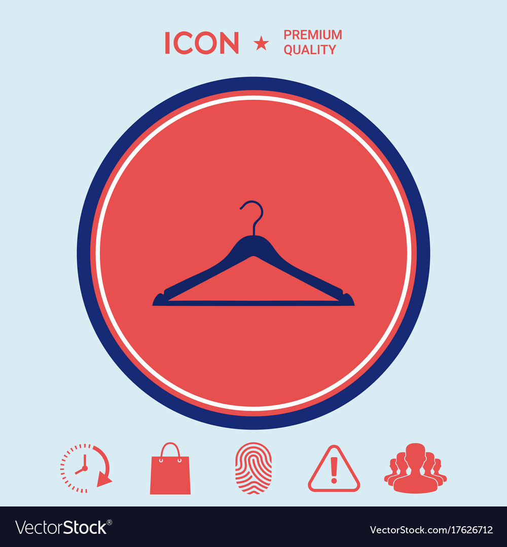 Clothes hanger icon vector image