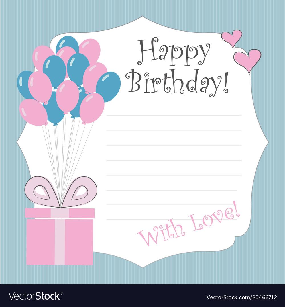 newborn birthday cards royalty free vector image